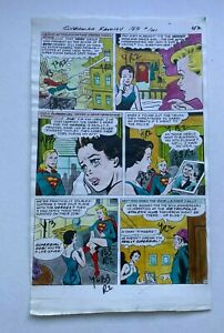 SUPERMAN FAMILY #169 ART COLOR GUIDE 1975 ANTI SUPERGIRL PLOT