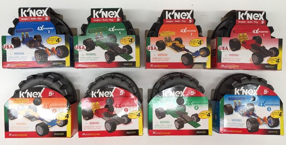 K'nex Dragsters Dragsters Dragsters Lot Of 8 5b17e5