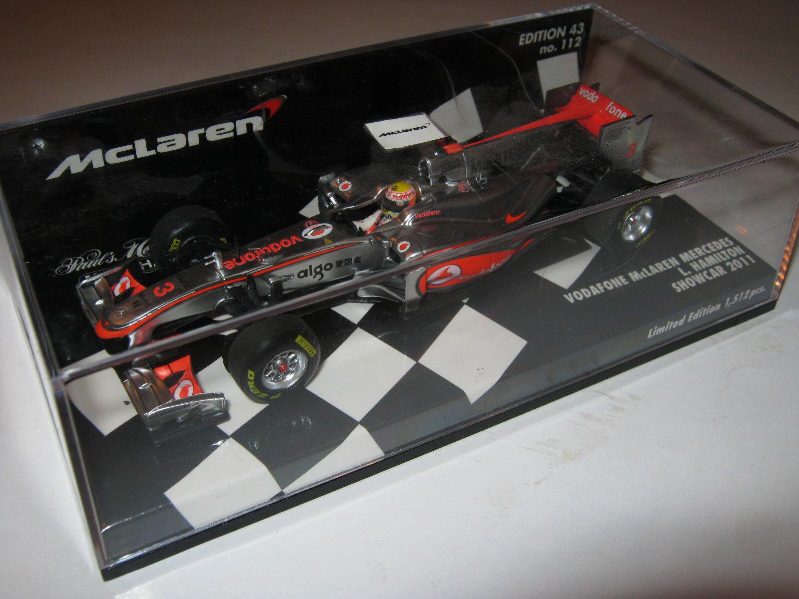 1 43 McLaren Mercedes Showcar 2011 L. Hamilton 530114373 Minichamps OVP new