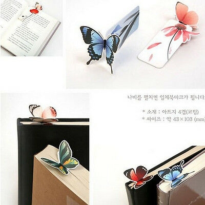 Cartoon Butterfly Book Marks Paper Clip Office School Bookmarks Girl's Gift