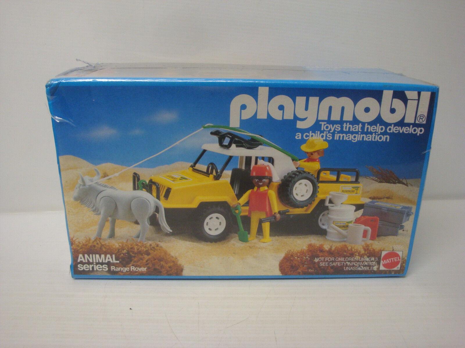 Playmobil ancien Mattel état neuf en boite scellée - jeep safari animal 9766