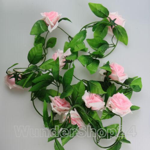 240cm fleurs vigne vigne roses en soie fleurs art fleurs fleurs Girland DECO NEUF