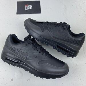 Nike-Air-Max-1-Triple-Black-UK-4-EU-37-5-US-6-5-aq0865-007-NEU