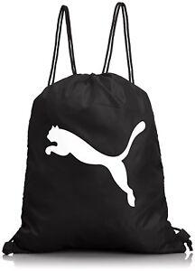 Image Is Loading Mens PUMA Drawstring Gym Bag Women Kids PE