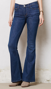 CURRENT ELLIOTT THE LOW BELL in blueE BASIN very soft and stretchy SAMPLE jeans