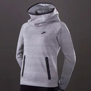 a79512181d95  90 NWT Nike Tech Fleece V2 Women Hoodie Grey Funnel Sweater Top ...