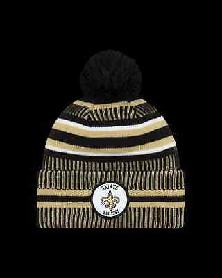 catch best authentic another chance New Era Onfield NFL19 New Orleans Saints Bobble Ski Hat - Team ...