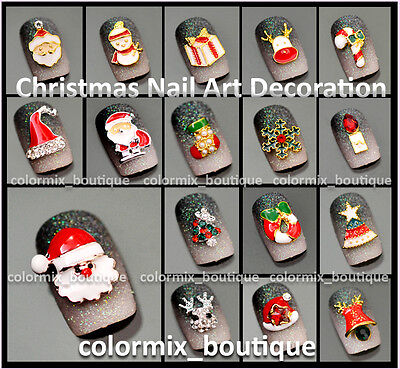 NEW 3D Nail Art Accessories Christmas Design Glitter Alloy Jewelry Decoration