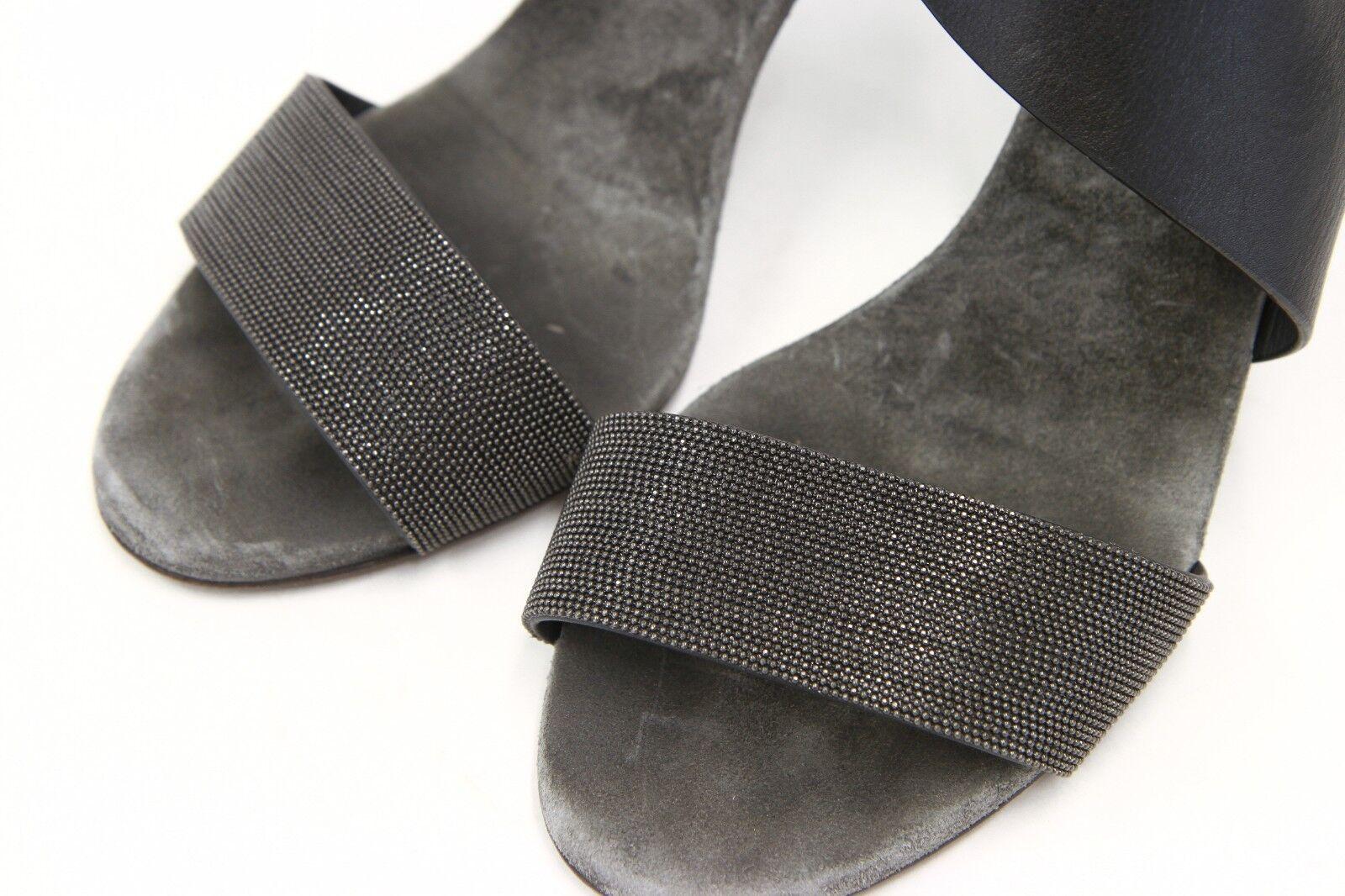 1395 Brunello Cucinelli 100% Leather Monili Beaded Beaded Beaded Sandal Size 40  10 US A181 f9701d