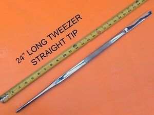 "Straight Tip Huge Tweezer Extra Long Forceps 24"" Long Stainless Steel -14351ST"