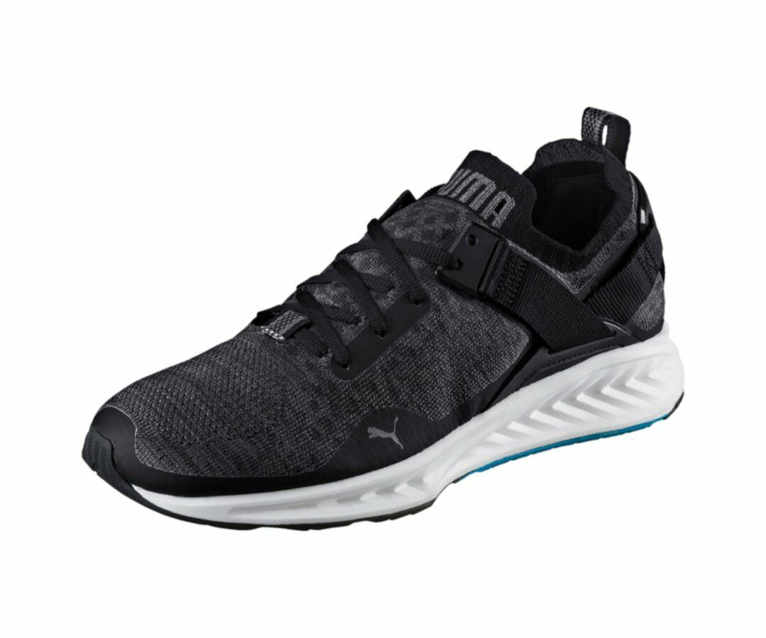 Puma Ignite Evoknit Lo Black   189904-01   Men's Knit bluee Danube Quiet Shade