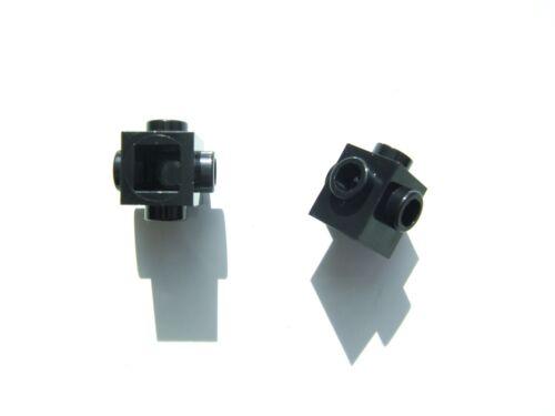 473326 2 x Lego Black brick size 1x1 with 4 knobs Parts /& Pieces