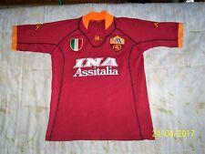 AS ROMA KAPPA 2001-02 INA ASSITALIA Maglia/Shirt #10 TOTTI rara!!