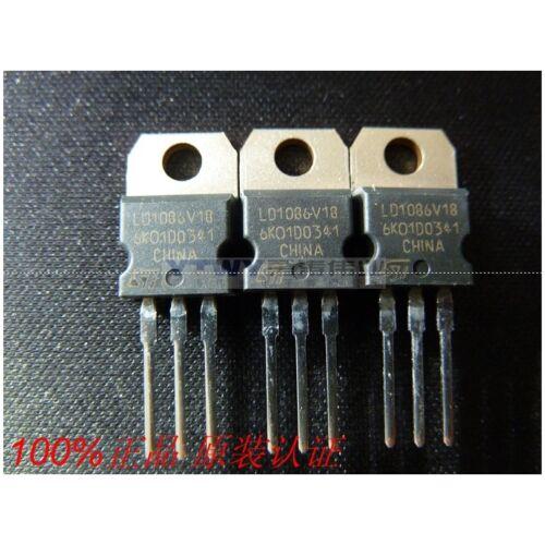 5PCS X LD1086V18 ST TO-220 regulator tube