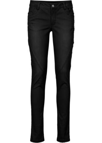 Damen Hose Stretch Stoff Jeans Pants Skinny Fit schwarz Größe 36 NEU