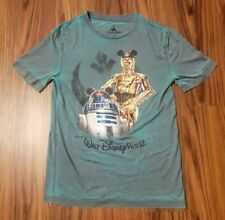 Disney Parks Shag T-Shirt A Wretched Hive Cantina Tee Star Wars R2-D2 C3PO NEW