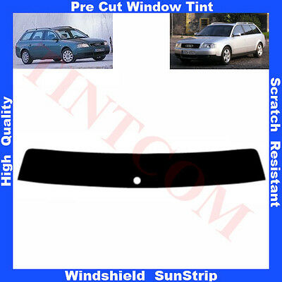 Pre Cut Window Tint Sunstrip for Audi A6 5 Doors Estate 1998-2005 Any Shade