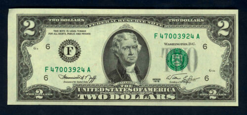 YET BRAND NEW 1976 BiCentennial $2 GEM CU U.S FED RESERVE NOTE ~ 43 YEARS OLD