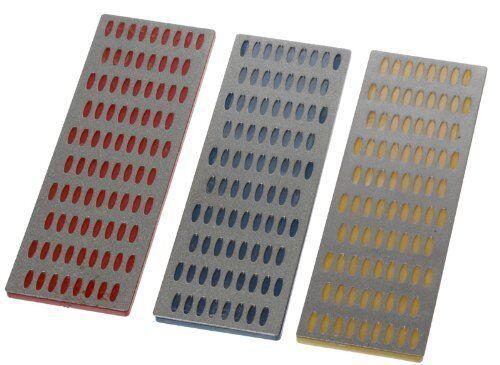 "300 New 3pc Diamond Sharpening Block Set 6"" x 2"" Grit 150 450 US FREE SHIPPING"
