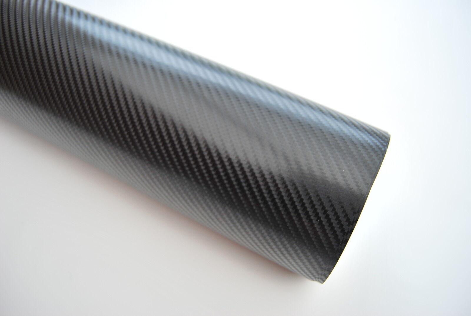 4D Kohlefaser Vinyl HlleAlle Zhler GrenSchwarz Luft Blasenfrei