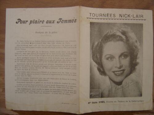 PROGRAMME OFFICIEL du THEATRE MUNICIPAL DE TOURS Nick Lair POUR PLAIRE AUX FEMME
