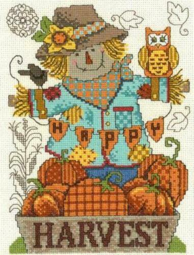 Happy Harvest Scarecrow by Imaginating cross stitch pattern