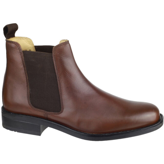 Cotswold Mens Colesbourne Leather Lined Chelsea Dealer Boot Brown