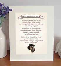 """Giant Schnauzer 10"""" x 8"""" Free Standing Thank You Poem Novelty Gift FROM THE DOG"""