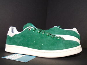 pretty nice 042cf af96a Image is loading 2014-ADIDAS-STAN-SMITH-SKATEBOARDING-AMAZON-GREEN-WHITE-