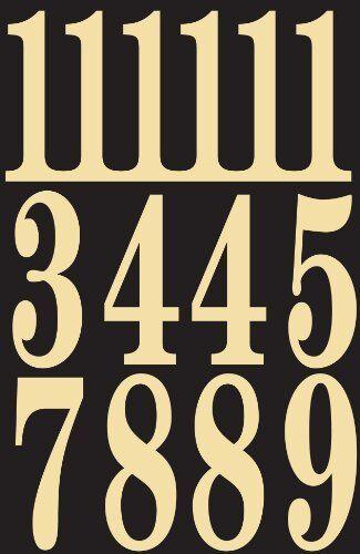 "3/"" Hy-Ko MM-5N Self-Stick Numbers Black//Gold"