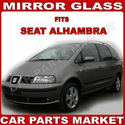 plate Left side blue Wing mirror glass for Seat Alhambra 1998-10 heated
