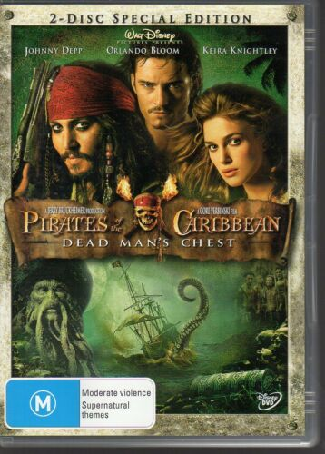 1 of 1 - PIRATES OF THE CARIBBEAN DEAD MAN'S CHEST - DVD R4 2-DISC SET  LIKE NEW