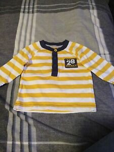 Baby Boys George Long Sleeved Striped Disney Top - Aged 0-3 Months