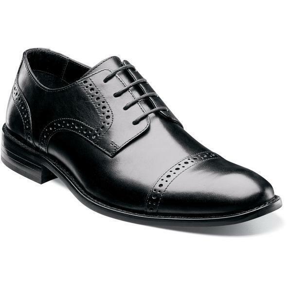 Stacy Adams Hombre Zapatos Prescott Gorra Punta Negro con Cordones 24858-001