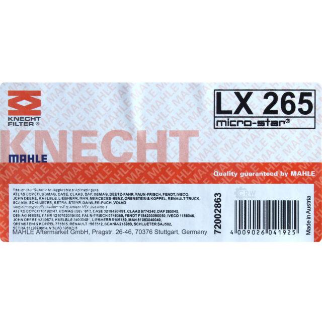 S3750 Air Filter Insert Genuine OE BOSCH 1457433750