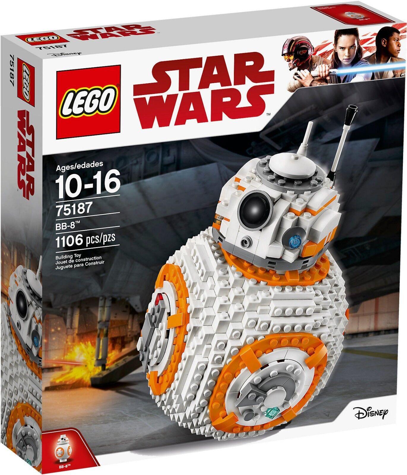 75187 LEGO STAR WARS BB-8 BB8 NUOVO SIGILLATO ORIGINALE 1106 PEZZI - MISB