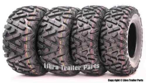 Set 4 WANDA ATV tires 24x8-12 24x8x12 /& 25x11-10 25x11x10 P350 Deep Tread Mud