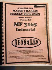 Massey Ferguson Mf 3165 Parts Manual Industrial Tractor