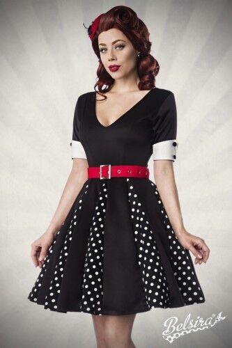 Belsira Godet-Kleid Kleid, Gürtel