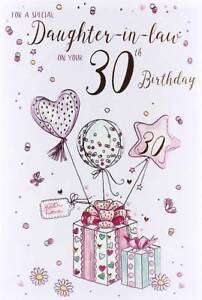 Image Is Loading ICG Daughter In Law 30th Birthday Card Pink