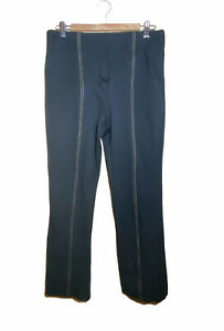 ANTHROPOLOGIE Essential Crop Flare Women's Black Pants Work Size M