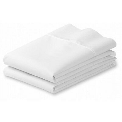 1 WHITE  FULL / TWIN SIZE EXACT FIT PILLOW CASES 20''X30'' 24 HOUR SHIPPING
