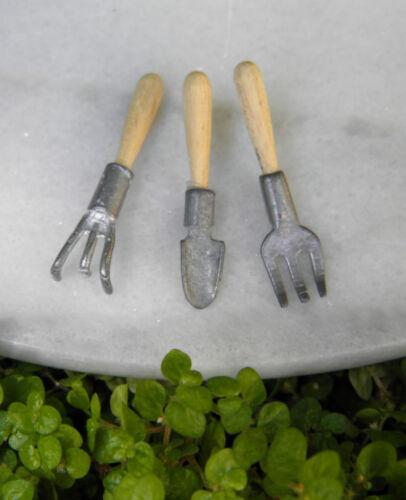 Miniature Dollhouse FAIRY GARDEN Accessories ~ Set of 3 Garden Hand Tools ~ NEW