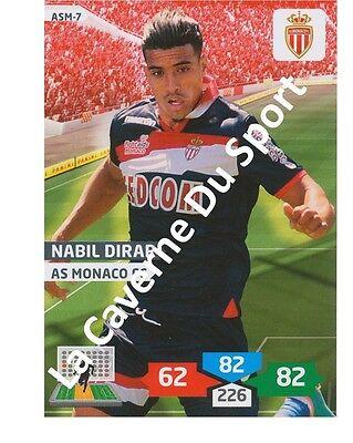 ASM-07 NABIL DIRAR # MAROCCO AS.MONACO CARD ADRENALYN FOOT 2014 PANINI