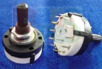 4pcs Pole 7 Position PANEL PCB Wiring ROTARY SWITCH 1P7T mh