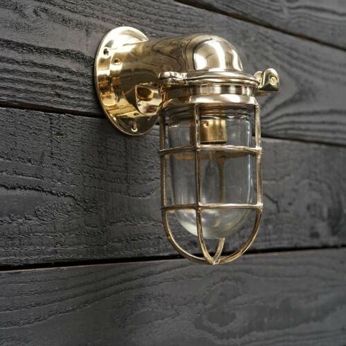 Industrial Naval Pattern Marine Antique Brass Passageway Wall Light