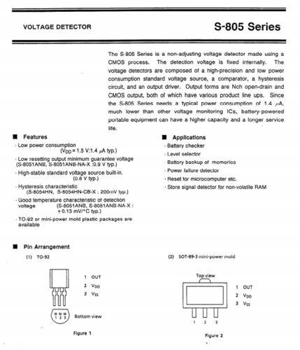 8053ALR C-MOS VOLTAGE DETECTOR  S-8053ALR Epson 1 pcs S8053