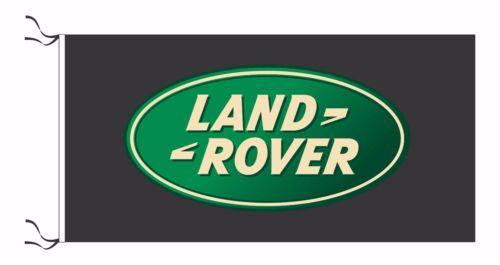 SIZE 150x75cm - BRAND NEW LAND ROVER FLAG WHITE 5x2.5 ft