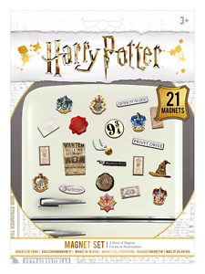 HARRY POTTER WIZARDRY MAGNET SET 21 MAGNETS 2 SHEETS NEW 100/% OFFICIAL