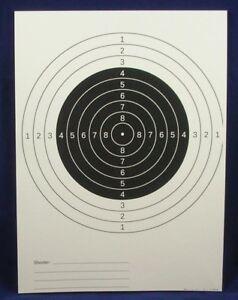 paper shooting targets 50 Orange//Black 20 Yard Pistol Targets 11X 11.5